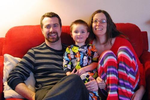 The 2nd annual Kelly Christmas pajama photo
