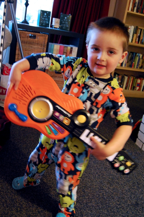 Joshua the rock star, loving one of his gifts