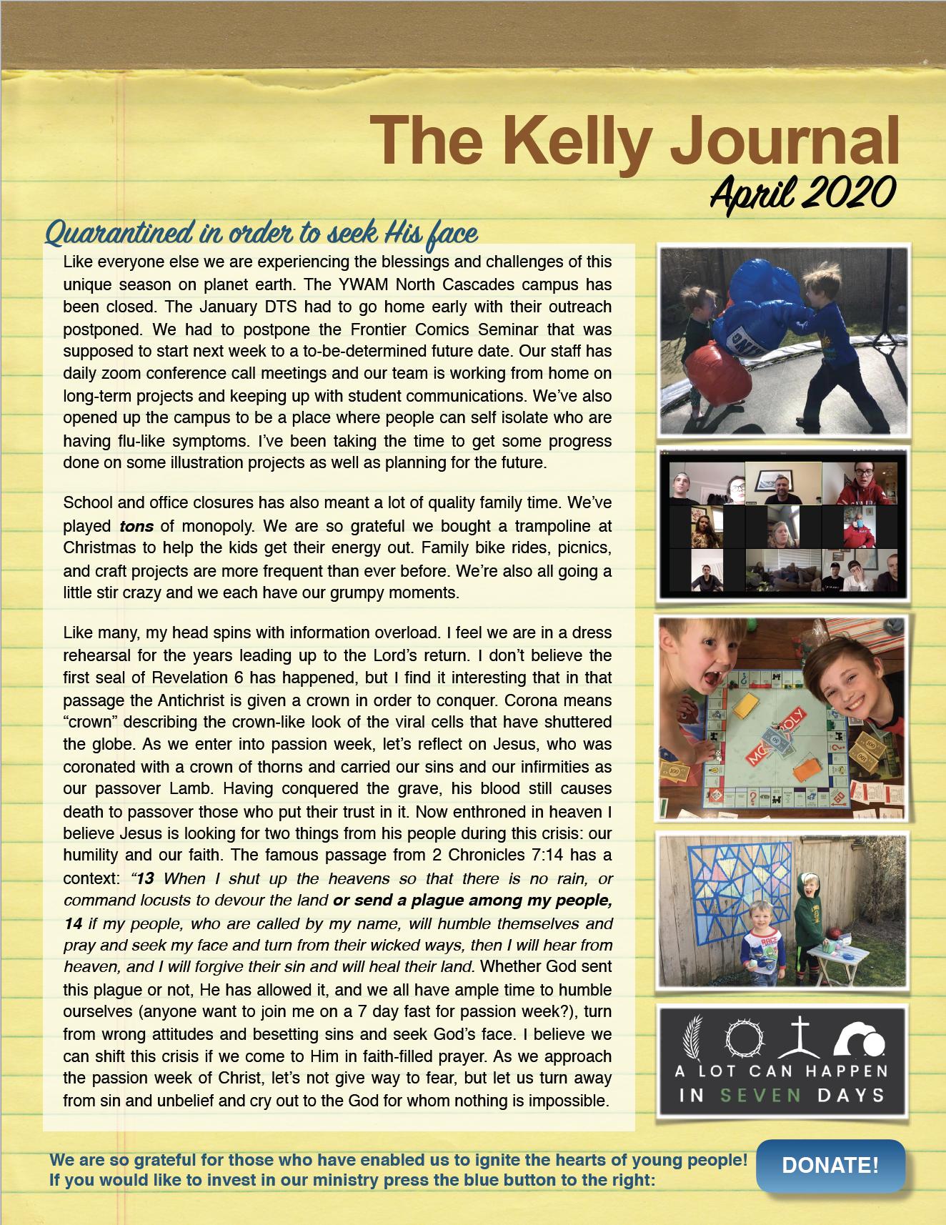 april 2020 newsletter screenshot